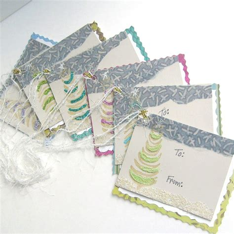 Card Gift Tags - christmas card gift tags 6 pc handmade card and tag in one greeting cards gift tags