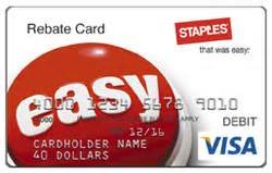 Staples Visa Gift Card Rebate - staples rebate visa liquidation cards now have pins