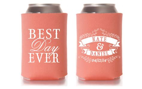 personalized koozies for wedding item details