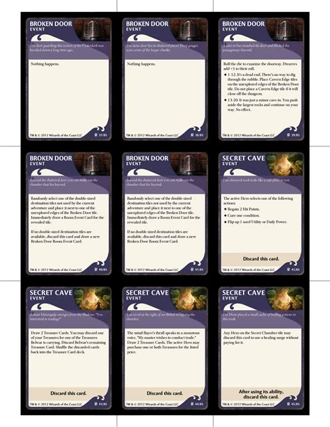 board card template move back two spaces lod named tile event deck dungeons dragons the