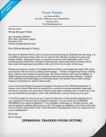 Diving Supervisor Cover Letter by Personal Trainer Cover Letter Sle Tips Resume Companion