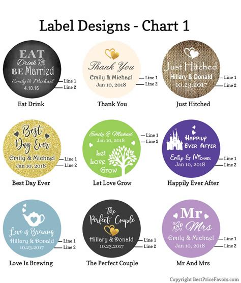 label design cost personalized mint tin wedding favors silver color free