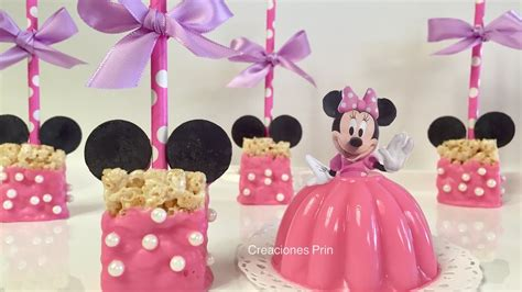 moldes para gelatina de minnie rice krispies minnie mouse paletas de arroz inflado youtube