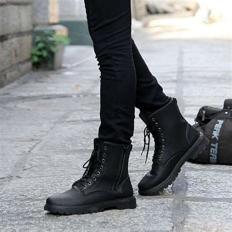 new fashion s shoes retro combat boots winter