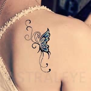 Butterflies And Flowers Tattoos - best 25 blue butterfly tattoo ideas on pinterest blue