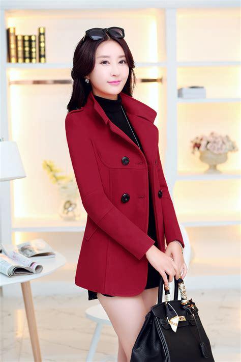 and autumn outerwear slim woolen coat winter