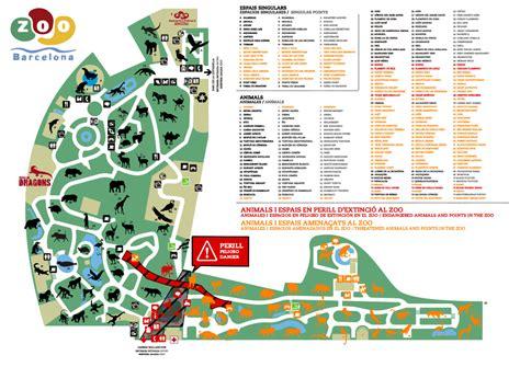 barcelona zoo map zoo barcelona mapa