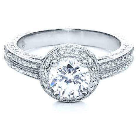 halo engraved engagement ring 210