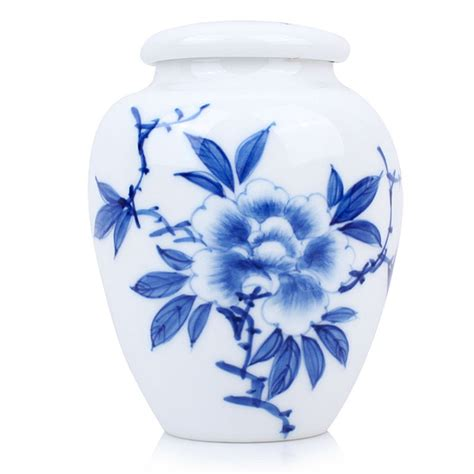 blue and white porcelain blue and white porcelain caddy peony esgreen enjoy slow