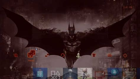 ps4 themes batman batman arkham knight theme ps4 pre order bonus youtube
