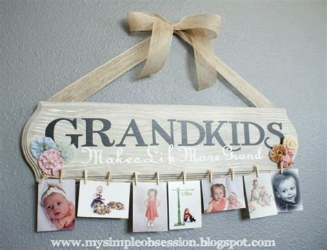 Handmade Grandparent Gifts - grandkids picture frame grandchildren