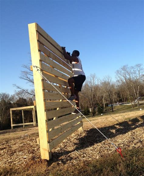 diy outdoor climbing wall diy pallet climbing wall adult obstacle course