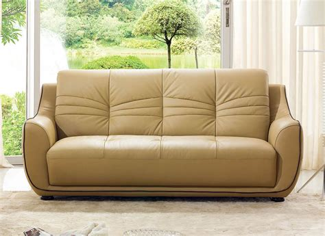 remarkable bonded leather beige tufted sofa set