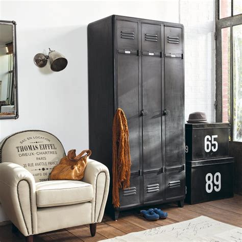 lockers for bedrooms vintage industrial furniture designs revive bedroom spaces