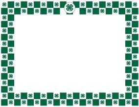 4 h clover border 4 h graphics posts scouts and we