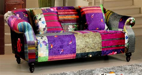 Patchwork Furniture For Sale - shout 3 seater luxury fabric patchwork sofa ebay