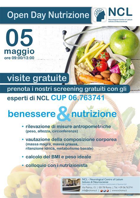 alimentazione e nutrizione open day benessere e nutrizione neurological centre of