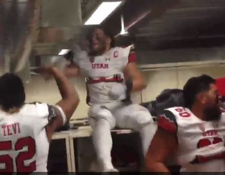 gets beat up in locker room utah goes in locker room after beating oregon sings fight song the spun