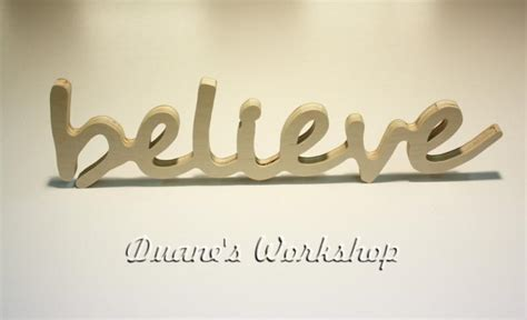 Believe Letters Wooden Wall Decor by Believe Sign Diy Wall Hanging Wooden By Duanesworkshop