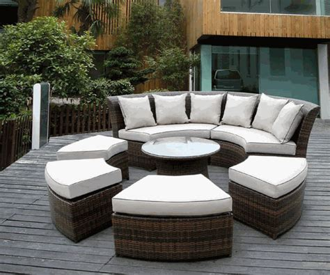 Patio Furniture Sectional Sets Beautiful Outdoor Patio Wicker Furniture Seating 7pc Set New