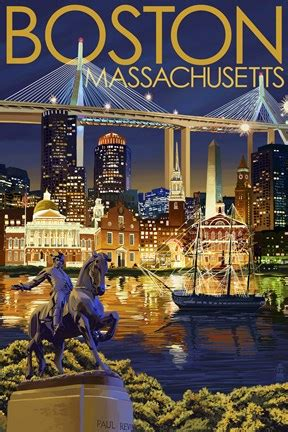 boston massachusetts paul revere fine art print  lantern