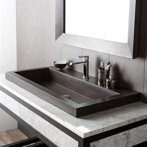 bathroom trough sink native trails trough stone bathroom sink reviews wayfair