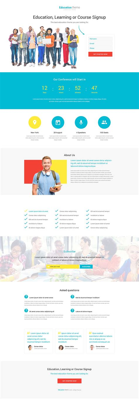 Education Responsive Landing Page Template 53645 Education Landing Page Templates Free