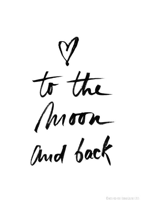 printable quotes black and white to the moon and back poster print black white by