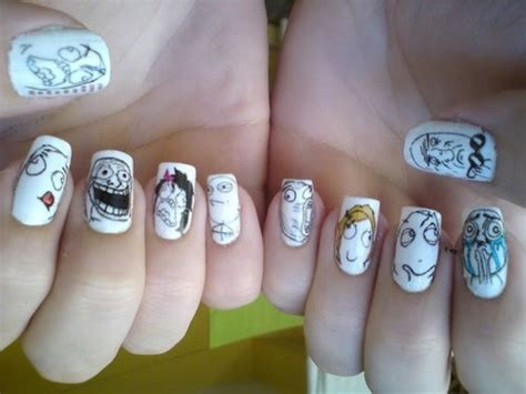 Meme Nail Art - meme nails nail art pinterest