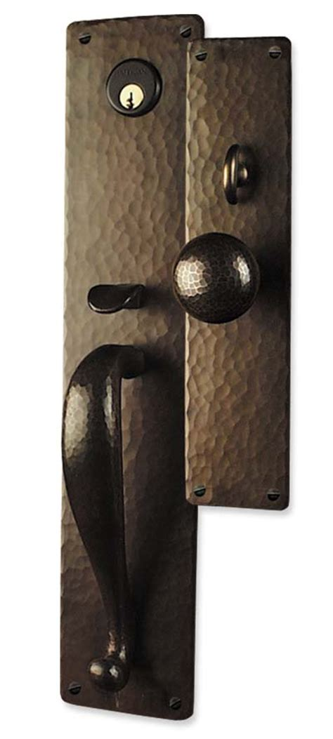 Craftsman Door Hardware by Arts And Crafts Style Crafted Copper Large Entry Sets