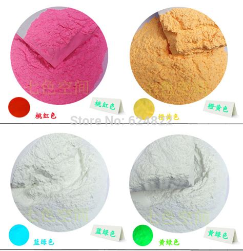mix 8 colors phosphor luminous powder coating diy photoluminescent dust glow in powder
