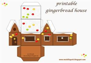 Printable Gingerbread House Template by Free Printable Gingerbread House Ausdruckbares