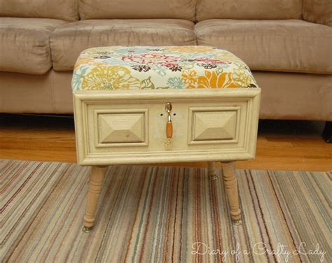 how to make an ottoman out of a coffee table diary of a crafty lady old drawer ottoman
