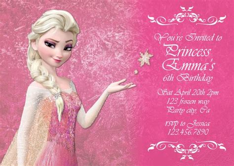 Frozen In Pink by Items Similar To Frozen Pink Elsa Birthday Invitation