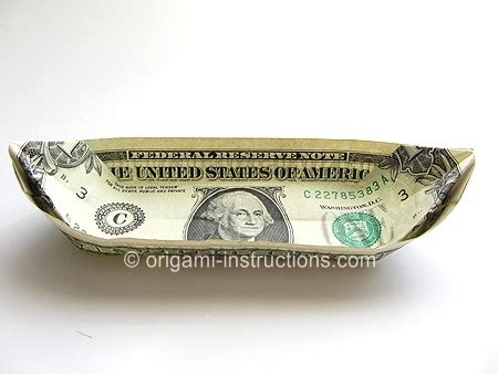 Money Origami Boat - money origami san folding how to make