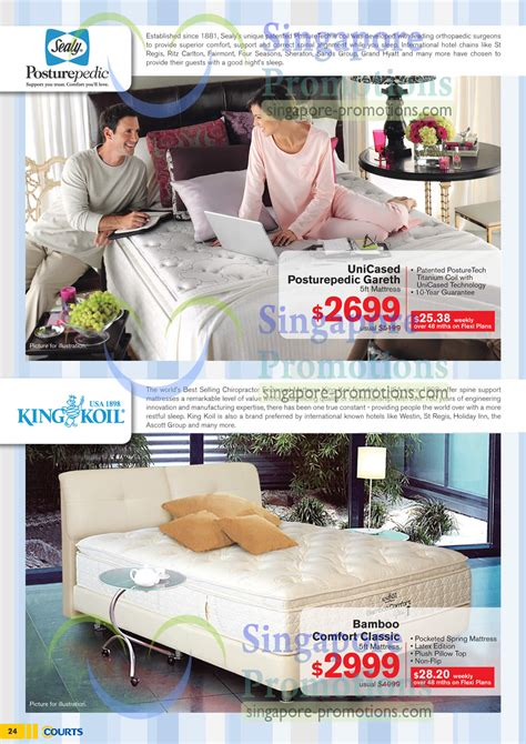 King Koil Bamboo Mattress by Mattresses Sealy Unicased Posturepedic Gareth King Koil