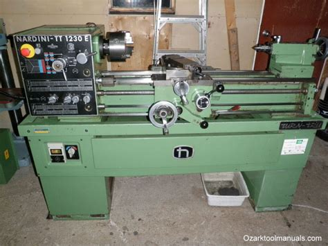 nardini tt   metal lathe ozark tool manuals books