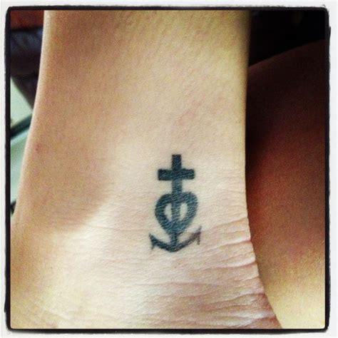 cross heart anchor tattoo faith and anchor cross tattoos