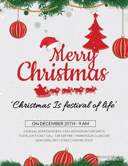 christmas holiday flyer template word psd apple