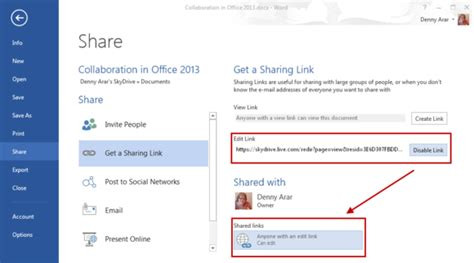 Link Office by Collaboration In Microsoft Office But Not