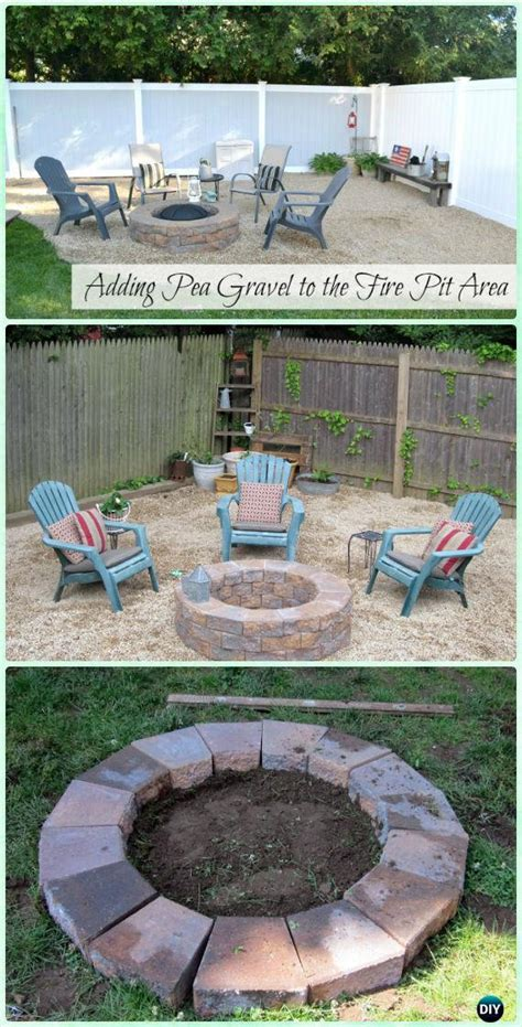 diy garden firepit patio projects  plans