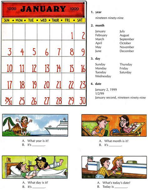 Calendar Vocabulary Calendar Learn The Vocabulary For Calendars