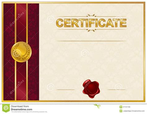 elegant template of certificate diploma royalty free