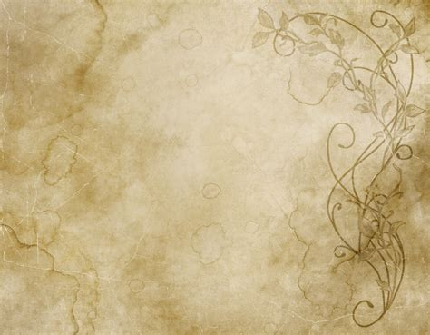How To Make Paper Look And Worn - excellent faded and worn floral design on paper or