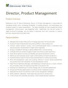 Responsibilities Of A Marketing Director by Product Management Director Description