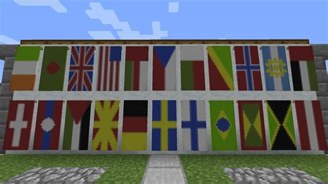 flags of the world minecraft minecraft banner tutorial flags of the world youtube