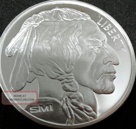 1 Troy Ounce Silver Buffalo Coin - 1 ounce silver buffalo indian bu 999 silver bullion