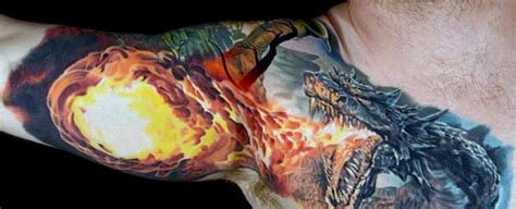 fire breathing dragon tattoo designs 70 arm designs for breathing ink
