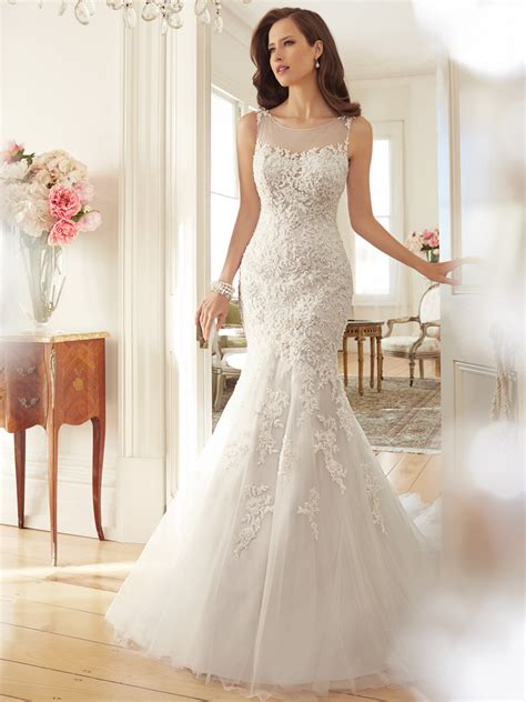 design engagement dress tulle wedding dress with dropped waist