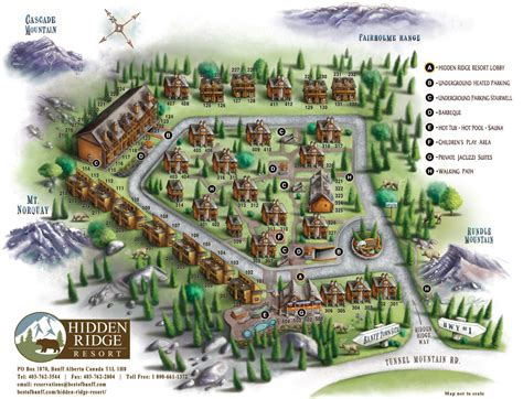 resort map ridge resort banff condos banff hotel banff